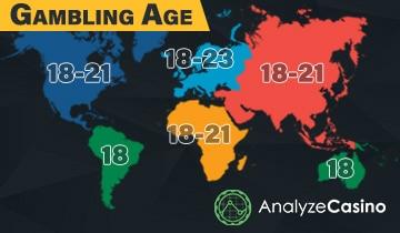 ข้อจำกัดและอายุการเล่นพนัน - ดูกฏหมายทั่วโลก