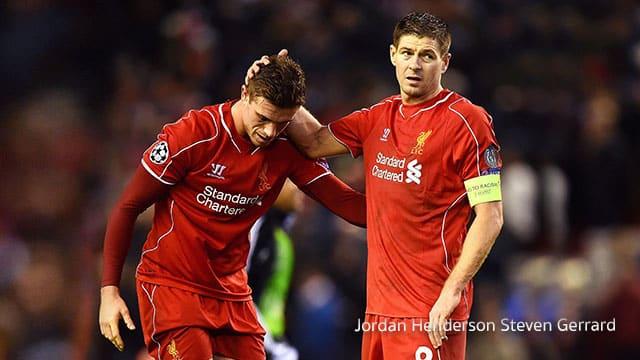 Jordan Henderson Steven Gerrard  เพื่อนร่วมทีม