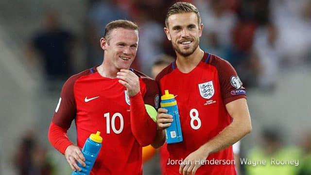 Jordan Henderson  Wayne  Rooney เพื่อนร่วมทีม