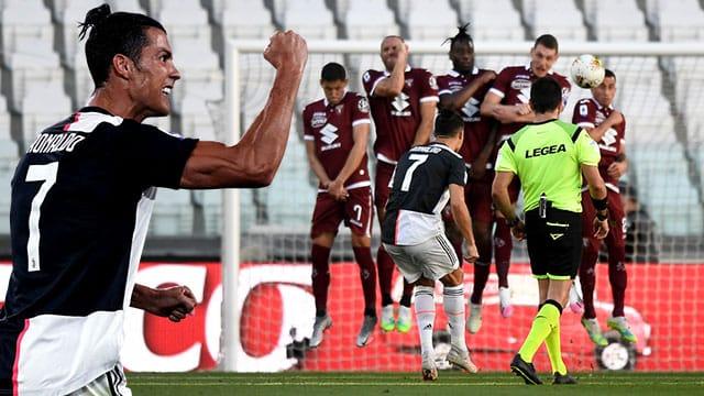 Cristiano Ronaldo free kick 2020